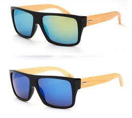 Bamboo Sunglass 2016 Fashion Wooden Sunglasses Men Women Brand Designer Outdoor Wood Sun Glasses