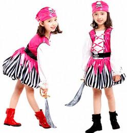 Children's Classic Halloween Costumes girls Pirate Costume Kids dress Cosplay Pirate Costume Jack Carnival Costume For Kids