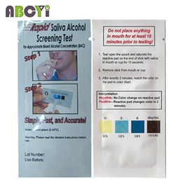 Wholesale Cheap Disposable Alcohol Tester Bag Alcohol Test Kit Rapid Saliva Alcohol Screening Test Strip Alcool Tester Dropshipping