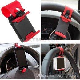 Acheter en ligne Volant pour les vélos-Support de support de clip de roue de volant de voiture pour l'iPhone 4S 5 5S 5C pour iPod pour le téléphone portable GPS MP4 PDA A2 de téléphone portable de la galaxie S4 S5 de Samsung