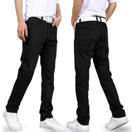 Wholesale Jeans Men Black Jeans New Designer Brand Spring Warm Slim Denim Classic Straight Boy True Trousers Cheap Long Pants Jeans