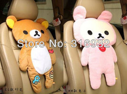 Wholesale Rilakkuma Car Seat Cushion soft Pillow Novelty Gift Toy pair
