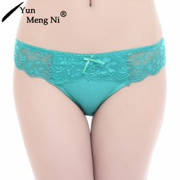 Wholesale Cheap cotton panties women ladies hot sexy lace underwear sexy girls model in panties comfort cotton underwear