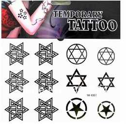 Wholesale Free ship YM K067 diy body tattoo arm waist back Pentacle Magical circle waterproof Rub on transfer CE