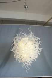 Wholesale Cheap Chihuly - 100% Mouth Blown CE UL Borosilicate Murano Glass Dale Chihuly Art Pure White Pendant Cheap Modern Ceiling Lights