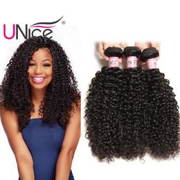 UNice Hair Brazilian Curly Wave Peruvian Hair Weave Bundles 8-26inch Virgin Indian 100% Human Hair Extensions Malaysian Wefts Mix Length