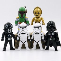 Figurines Star Wars Cartoon noir Décoration de caractère Films Jeu Vidéo Jouets Cadeaux Hauteur 9cm 1Réglez = 6Pcs 3Procédez / Lot K1188 à partir de star wars jeux vidéo fabricateur