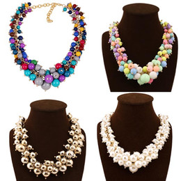 Wholesale Chunky Chain Bead Necklace - fashion jewelry Cheap Wholesale Gift Jewelry Chunky Bead Necklace For Girls Beautiful girl necklace 100% handmade