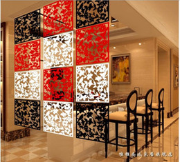 Wholesale hanging home decor black modern room dividers folding screen slender shape carved wall divider wallpaper
