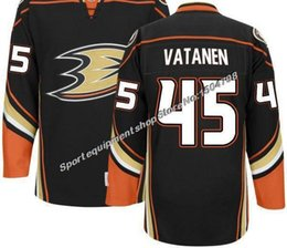 Wholesale 2016 New CHEAP MEN S Anaheim Ducks Sami Vatanen HOME BLACK ROAD WHITE Ice Hockey Jerseys Authentic Stitched Jersey Accept