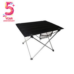 Wholesale 0 kg weight cm size Aluminum alloy structure Oxford face Folding table for outdoor dinner Picnic party