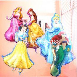 Wholesale cm giant size belle princess globos Cinderella balloons party supplies birthday gift baby girl baloon