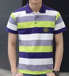 Wholesale 2016 NEW Buying Stone t shirt Stripe Fashion Design Your Own Sport tops tees island Cotton t shirt
