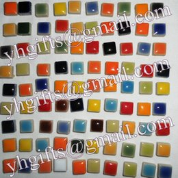 Wholesale 600PCS Gram Ceramic mosaic tile Scramble tiles Porcelain mosaic Craft material x0 x0 cm Freeshipping