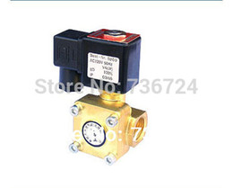 Wholesale 2 WAY Pilot operated diaphragm Electric solenoid valve Water Air N O V AC quot Normally closed