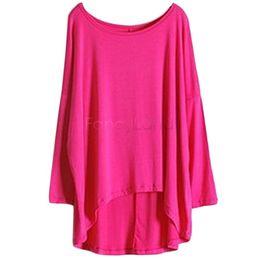 New 2014 Autumn Casual Women Lady Long Loose Bat T Shirts Tops Tees 4 Colors B11 CB033752