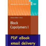 Wholesale Block Copolymers I Advances in Polymer Science v