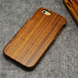 Wholesale iPhone Genuine Solid Wood Case for Apple S Plus S Natural Handcrafted Wood True Hardwoods Cell Phone Cover Cherry Bamboo Shell DHL
