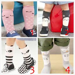Wholesale kids cartoon socks baby knee high socks cartoon panda socks kids owl socks knee high cat socks in stock