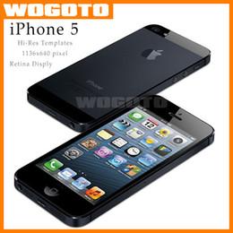 Wholesale Original Apple iPhone GB inch iOS8 for iphone Hi Res Template pixel Retina Display Refurbished iPhone5 in Stock