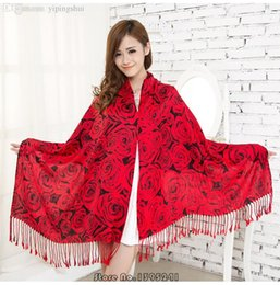 Foulards en coton de marque de gros à vendre-Vente en gros-190 * 70 femmes écharpe hiver chaude écharpes de marque de mode coton épais grand châle long imprimé concepteur Hijab Cachecol # wj114
