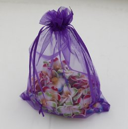 Wholesale Hot Sales Purple With Drawstring Organza Gift Bags x9cm x11cm x18cm x23cm za27