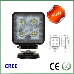 Wholesale 4 inch w CREE Led Work Light fog light For Jeep Truck Agricultural Machine Heavy Duty Boat Marine Sqare frame