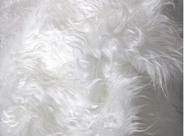 Wholesale Newborn Photography Photo Props Curly White Mongolian Faux Fur Fabric Long Pile Cheap Soft Backdrops Nest Inches