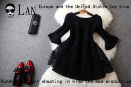 Wholesale Lan Ya Yi fall and winter clothes new European and American fashion thick fight organza lace dress T2584 Butterfly Festival