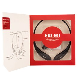 Wholesale Hot selling HBS bluetooth earphones HBS901 wireless bluetooth stereo headset in retail box upgrade from HBS DHL Free