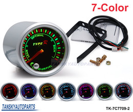 Wholesale 2 quot mm COLOR LED Air Fuel Ratio GAUGE Universal Smoke Face TK C7709 Have in stock