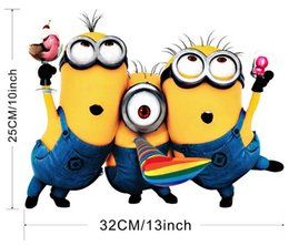 Wholesale Kindergarten Wall Decals - Despicable Me Cute Minions Wall Stickers For Kids Rooms Home Decorative Adesivo De Parede Removable PVC Kindergarten Wall Decal FreeShipping