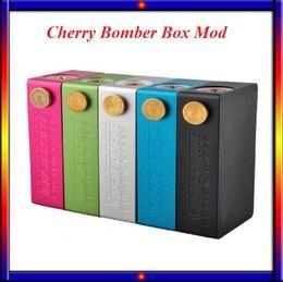 Wholesale Cherry Bomber Box Mod Clone Dual Battery Brass Contact Thread Vapor Mod Fit RDA RBA Atomizer VS Raptor t6 mod IPV3LI