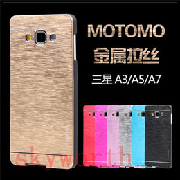 Wholesale Motomo Brushed Aluminium Metal Hard Case Cover For iphone S Plus S Samsung Galaxy S5 S6 S7 edge Plus Note