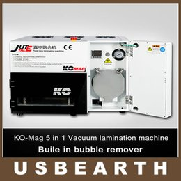 Wholesale Free ship Newest with bubble remove machine for inch screens LY898 automatic OCA laminator lcd vacuum laminating machine