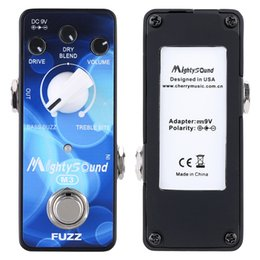 Wholesale High Quality Mighty Sound M3 Mini Classic Buzz Fuzz Pedal Electric Guitar Effect Pedal True Bypas with LED indicator I1632
