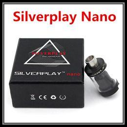 Wholesale Top Airflow Control Silverplay Nano RTA Tank Vaporizer Clone Mod Peek Insulator with Dual Split Positive Build Deck In Black Silver Colors