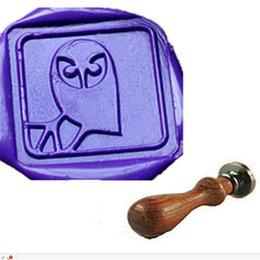 Vintage Cute Owl Custom Logo Wedding Invitation Party Wax Seal Stamp