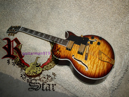 Wholesale and retail Honey Wave Classic Jazz electric guitar Gold Hardware