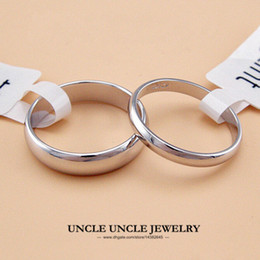 Unisex Ring White Gold Plated Width 5mm 2mm Classic Simple Finger Ring Wholesale 18KRGP Stamp