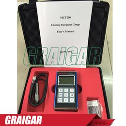 Wholesale Digital Coating Film Thickness Gauge Meter MCT200 Auto Paint Tester coating thickness gauge portable thickness tester