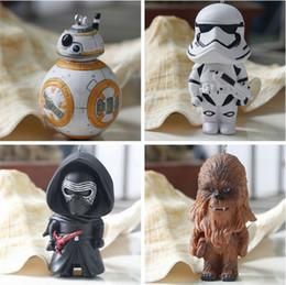 Wholesale Star Wars Starwars Toys The Force Awakens BB8 BB Droid Robot Kelo Chewbacca Pendant Action Figure PVC Keychains Key Ring