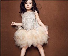 Princess girls bud silk gauze dress 15 years summer wear Female baby birthday party dress BH360