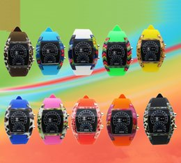 Wholesale 2016 New Fashion Cool Flash LED Digital Watch Air Race Sports Silicone Led Electronic Binary Watches Multicolor Unisex Watches Colors