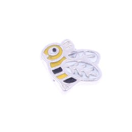 Wholesale 20pcs good quality new type alloy bee floating charms for glass living memory lockets