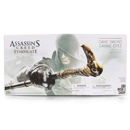 Wholesale New NECA Assassin s Creed Syndicate Sword Cane Cosplay Weapon Jacob Frye Cane Hidden Blade PVC Action Figure Model Toy