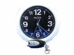 Wholesale Spy Hidden Camera Clock HD Digital Alarm Wall Clock Motion Detector Sound Recorder Digital Video With Remote Control For security