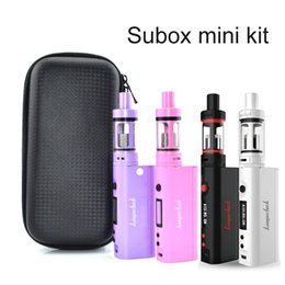 Wholesale Kanger Subox Mini with X6 Case and VTC5 Battery mah Subtank mini OCC Coils M Clone VS evic vtc mini black white pink purple