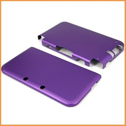 Wholesale-Free shipping Aluminum Box Hard Metal Cover case For nintendo 3ds xl n3ds ll Purple Case