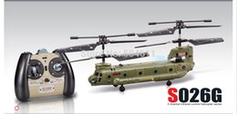 Wholesale Syma CM S026G Ch Channel Mini Chinook RC Helicopter Gyro Small Toy Gift Army green